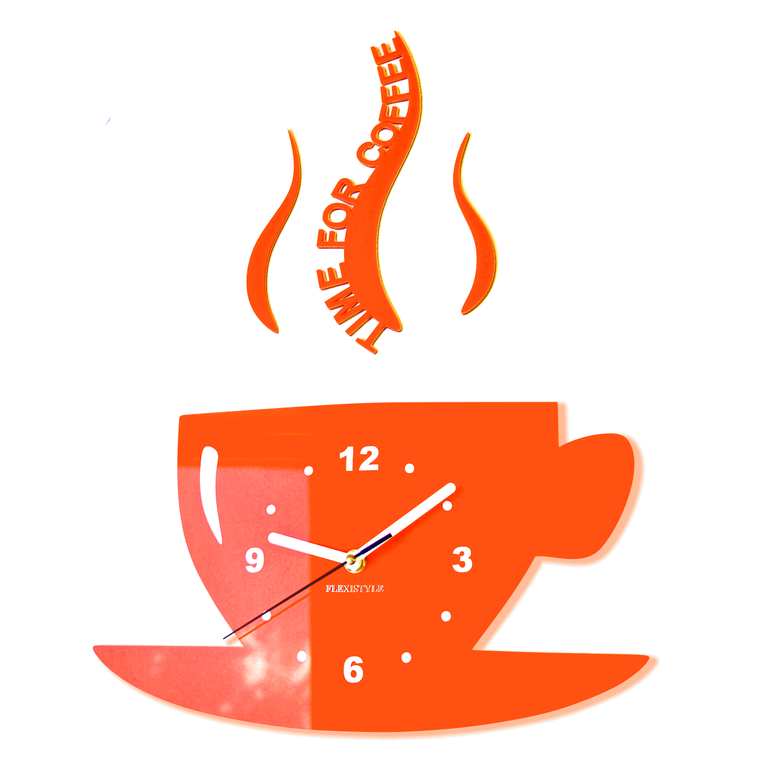 Modern kitchen wall clock CUP 16 colours available SilentNo