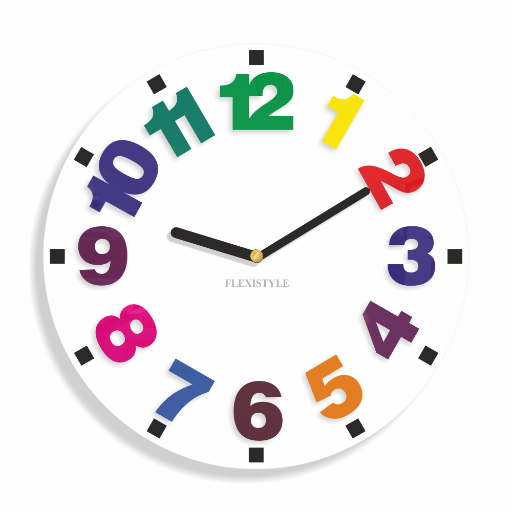 Clock for kids Numbers                                NumbersReal photo